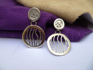 Silver Lunar Earrings