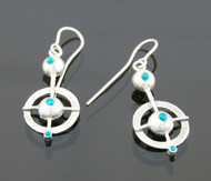 "Silver Earrings ""Crop Circles 2"""