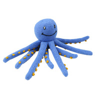 Hand Knitted  Blue OCTOPUS 100% Organic Cotton