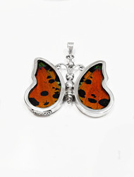 Large Tri Colour Butterfly Pendant