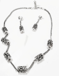 Handmade 950 Peruvian Silver Necklace & Earring Set
