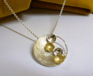 """Sun & Moon"" Circle Necklace"