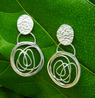 New! Large Circle Earrings
