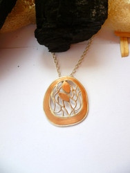 New! Silver/Copper Pendant
