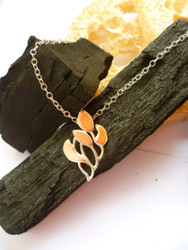 New! Flame Silver/Copper Pendant