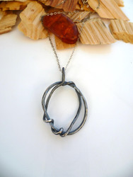 Organic Oxidised Silver Necklace