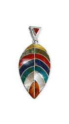 "Shell and Stone ""Leaf"" Pendant"