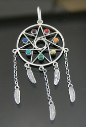 Nine50 Silver Dream Catcher Pendant