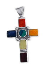 Shell and Stone Cross Pendant