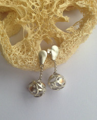 Paisley Silver Drop Earrings