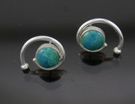 Chrysocolla Spiral Earrings