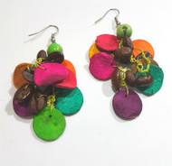 Citrus Peel & Coffee Bean Earrings