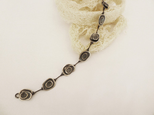 Nine50 Oxidised Silver Bracelet