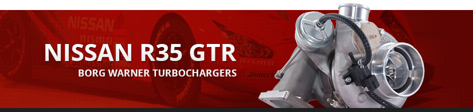 NISSAN R35 GTR BORG WARNER TURBOCHARGERS