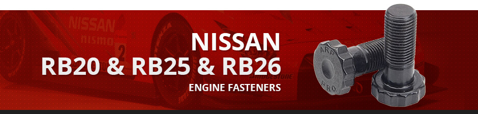 NISSAN RB20 & RB25 & RB26 ENGINE FASTENERS