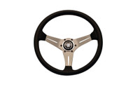 Nardi Deep Corn 350mm Leather Steering Wheel (Silver Spoke)