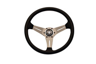 Nardi Deep Corn 350mm Leather Steering Wheel (Silver Spoke)