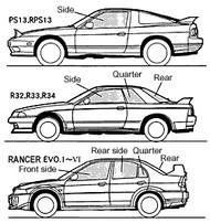 Tomei - Lexan Window Rear Side Rh Evo1-3