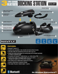 NavFly Bluetooth Headset