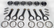 HKS GT-R (R35) Piston + Connecting Rod Set; Forged Piston Kit (95.5mm bore, 23mm pin) + H-Beam Conrod Set (2009-2010)
