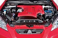 HKS Carbon fiber airbox overlay, 2.0L Hyundai Genesis