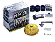 HKS (use 70020-AT006) HKS Racing Suction Kit 100mm Inlet; 200mm Element; For Stock Twin Turbos - Replaces Rubber Intake Hose