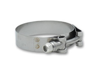 "Vibrant Performance - Stainless Steel T-Bolt Clamps (Pack of 2) - Clamp Range: 2.75"" to 3.10"""