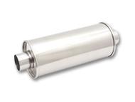 "Vibrant Performance - STREETPOWER Oval Muffler, 2.5"" inlet/outlet (Offset-Offset)"