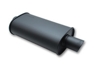 "Vibrant Performance - STREETPOWER FLAT BLACK Oval Muffler with Dual Tips (2.5"" inlet)"