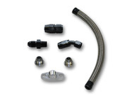 "Vibrant Performance - Universal Oil Drain Kit for T3/T4 Top Mount Turbo setups (20"" long line)"