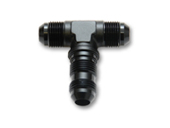 Vibrant Performance - -3AN Bulkhead Adapter Tee Fitting - Anodized Black Only
