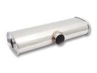 "Vibrant Performance - STREETPOWER Muffler, 3"" side inlet x dual 2.5"" outlets"