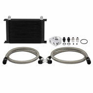 Mishimoto - Universal 19 Row Oil Cooler Kit, Black