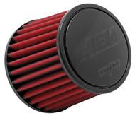 "AEM DryFlow Air Filter - Air Filter; 2.25"" X 5"" Dryflow"