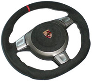 Agency Power Sport Steering Wheel Round Airbag Full Alcantara Porsche 997 987 05-09