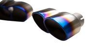 Agency Power Quad Oval Exhaust Tips Burnt Titanium Porsche 997 Turbo 07-09