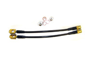 Agency Power Rear Steel Braided Brake Lines Audi A4 B6 B7 02-07