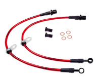 Agency Power Front Steel Braided Brake Lines Subaru WRX 08-12