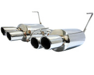 Agency Power Catback Exhaust System Polished Quad Tips Subaru STi WRX Sedan 11-16