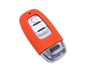 Agency Power Orange Rubber Key FOB Protection Case Audi B8 A4 A5 S5 A8 S8 A6 S6 RS4 RS5 10-14