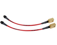 Agency Power Rear Steel Braided Brake Lines Nissan 370Z 09-14