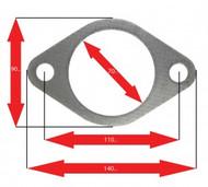 Apexi Oval Muffler Gasket, 2-Bolt (Mazda) Turbo