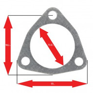Apexi Triangle Muffler Gasket, 3-Bolt (Nissan) Turbo
