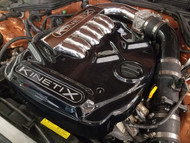 Kinetix Gloss Black Polycarbonate Engine Cover - Velocity Manifold - 350Z / G35