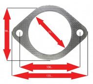Apexi Oval Muffler Gasket, 2-Bolt (Mitsubishi, Nissan, Subaru, Toyota)