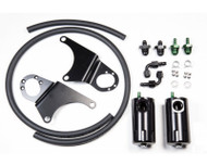Radium Catch Can Kit, Dual, Mitsubishi Evo 8-9