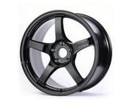 GramLights Glossy Black 57CR Wheel 17x9 5x114.3 38mm