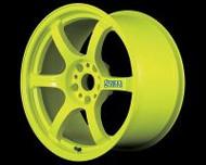 GramLights Fluorescent Yellow 57D Wheel 18x9.5 5-114.3 12mm