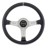 Sparco Steering Wheel -  L777 LEATHER SILVER