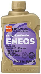 ENEOS 0W20 Fully Synthetic Motor Oil - 6qts(Case)